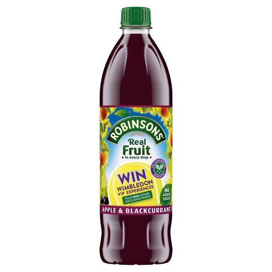 Robinsons Apple Blackcurrant No Added Sugar 1L