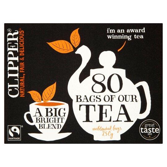 Clipper Fair Trade Tea Bags 80S 250G