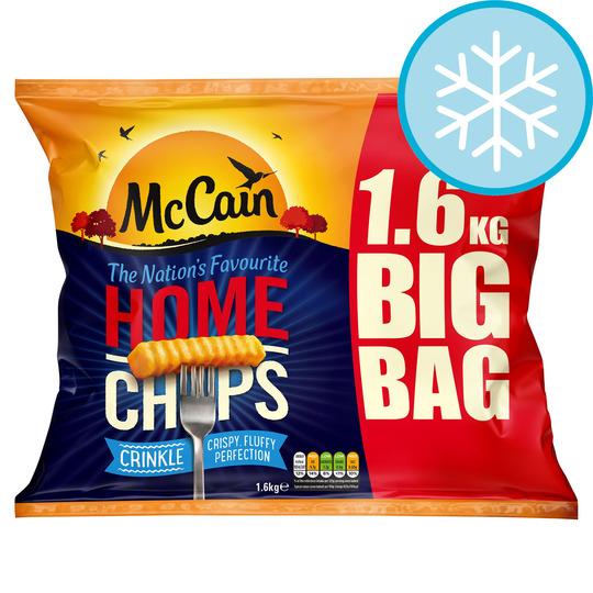 Mccain Home Chips Crinkle Cut 1.6Kg