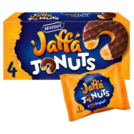 Mcvitie's Jaffa Cake Jonuts Biscuits 4 Pack