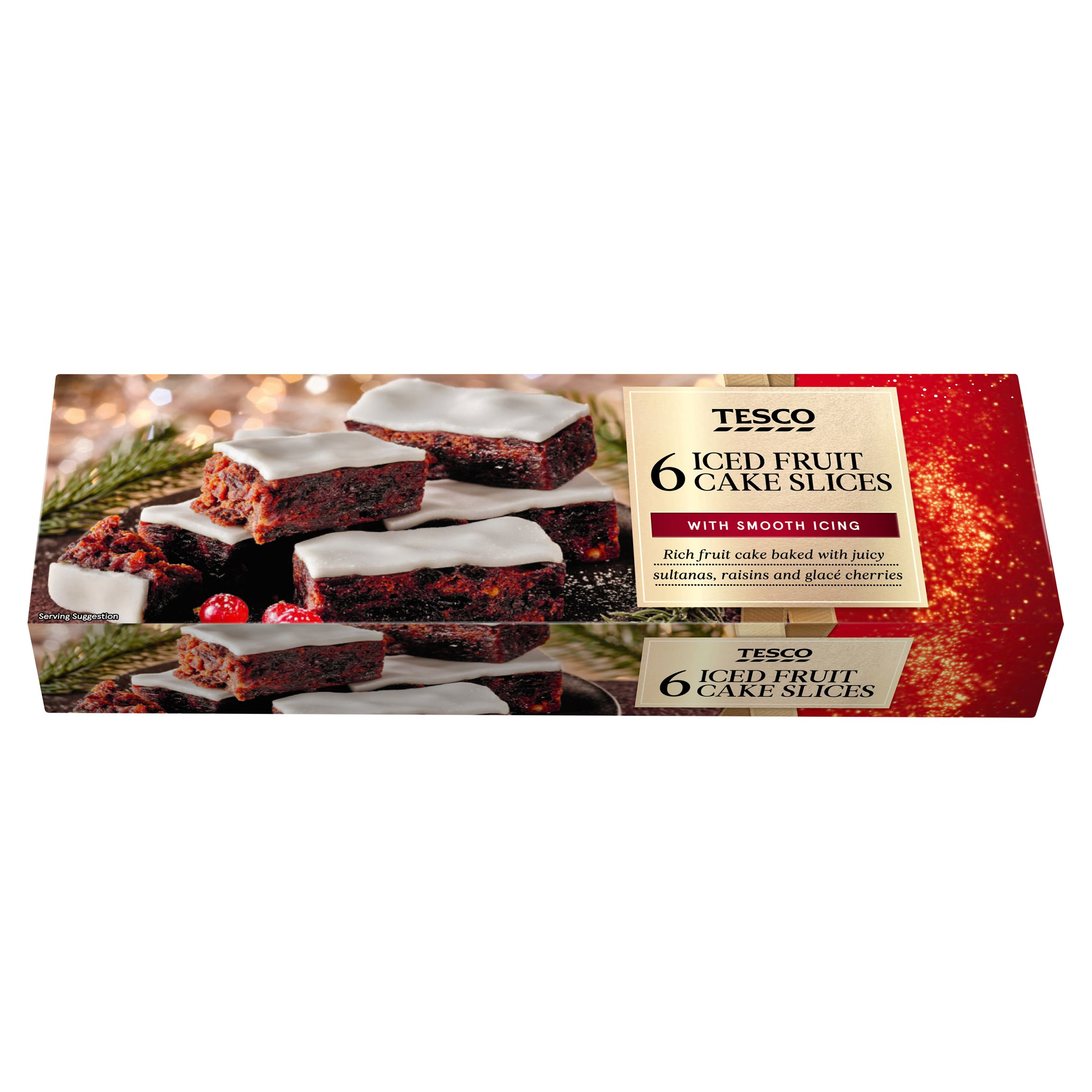 Tesco 6 Iced Fruit Cake Slices