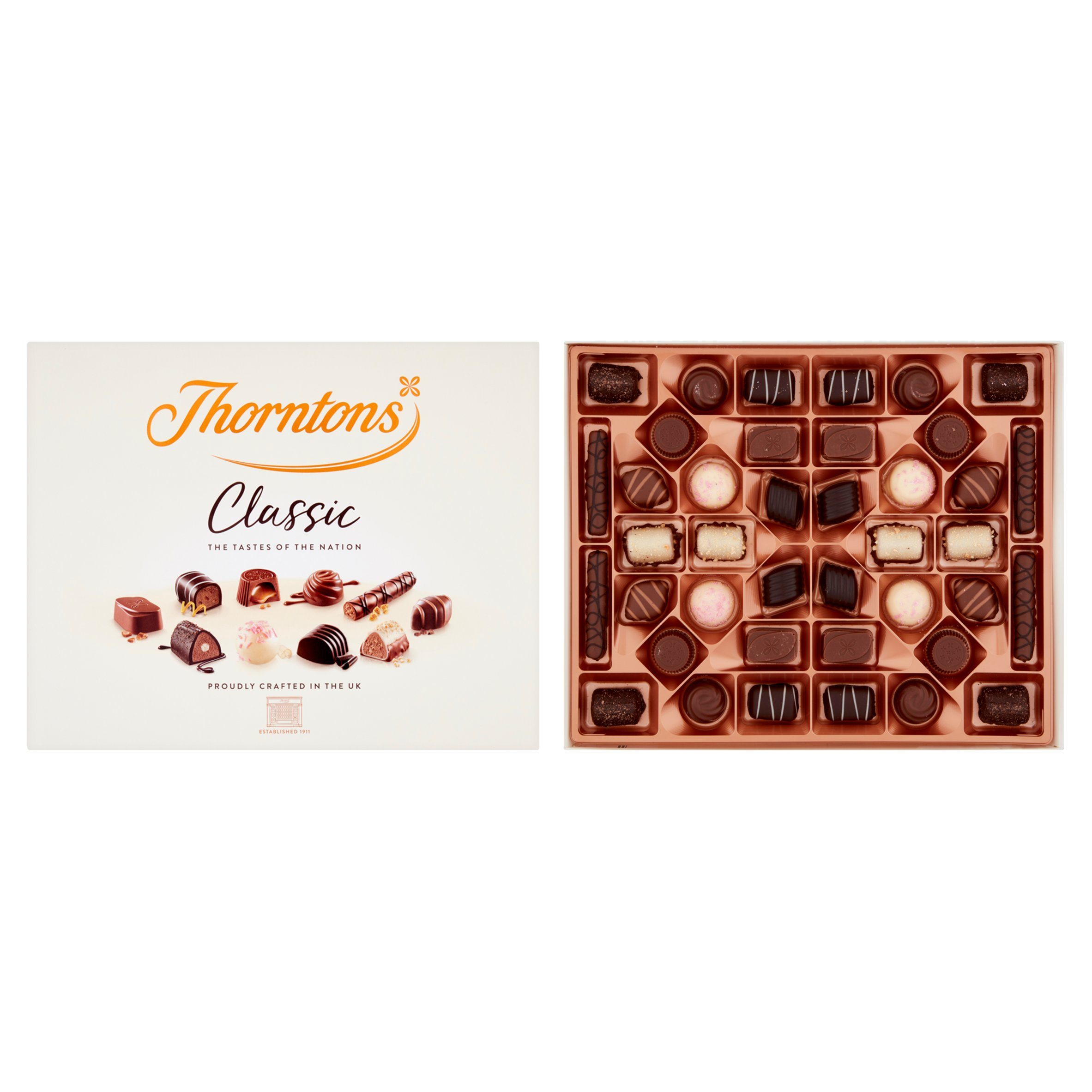 Thorntons Classic Collection Of Milk, Dark & White Chocolate 449G