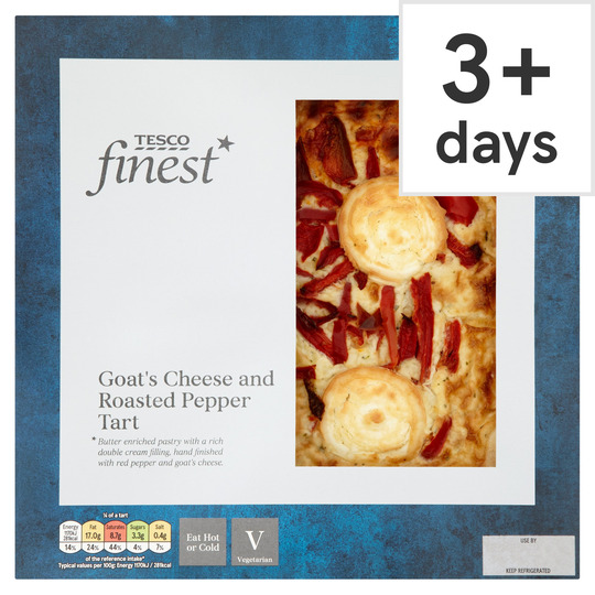 Tesco Finest Goats Cheese & Roasted Pepper Tart 400G