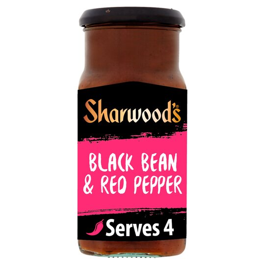 Sharwood's Blackbean & Red Pepper Sauce 425G