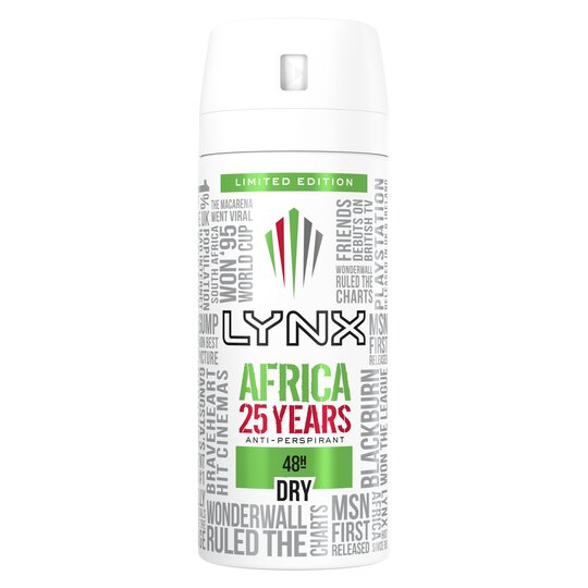 image 1 of Lynx Dry Africa Antiperspirant Deodorant 150Ml