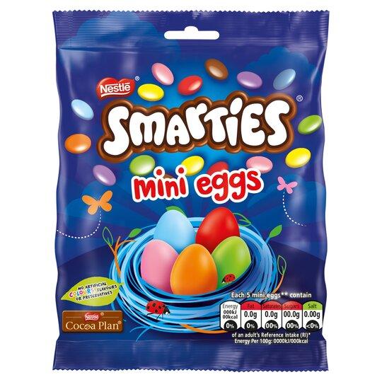 Smarties Milk Chocolate Mini Eggs 80G