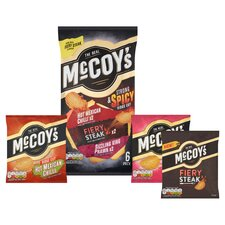 image 2 of Mccoy's Strong & Spicy Crisps 6X25g