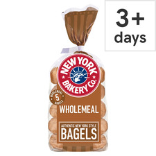 image 1 of New York Bakery Wholemeal Bagels
