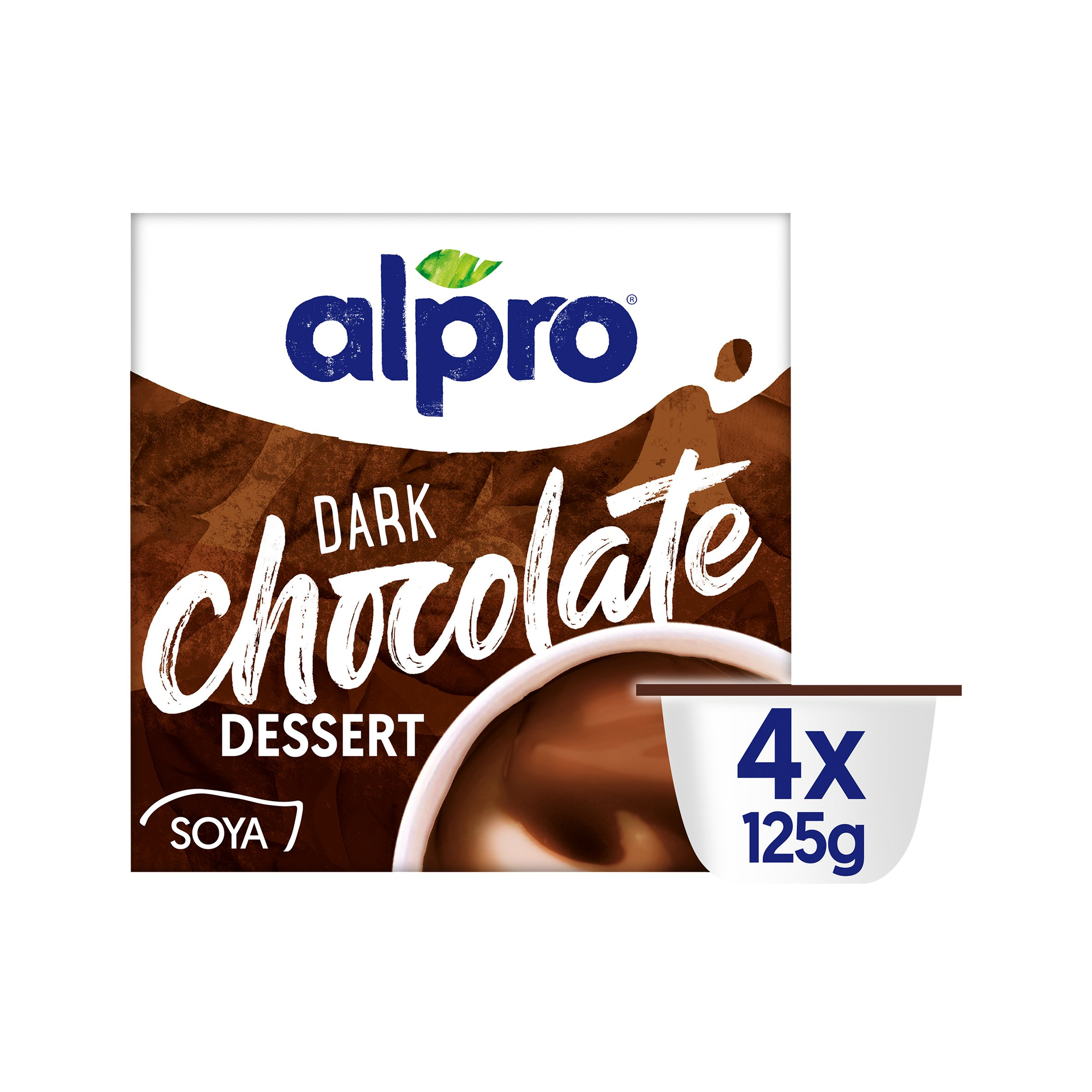 Alpro Dark Chocolate Soya Dessert 4X125g