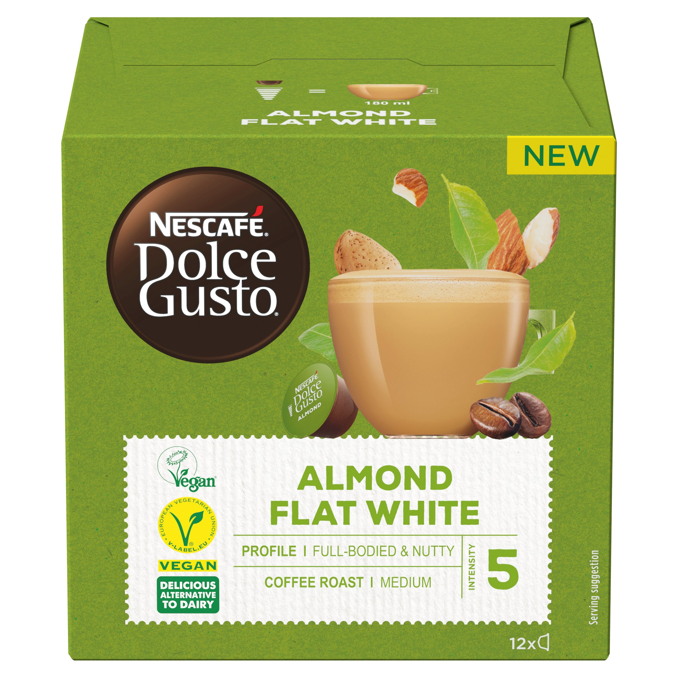 Nescafe Dolce Gusto Almond Flat White Coffee Pods 12 Pack 132G