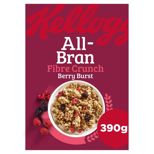 Kellogg's All Bran Fibre Crunch Berry Burst 390G