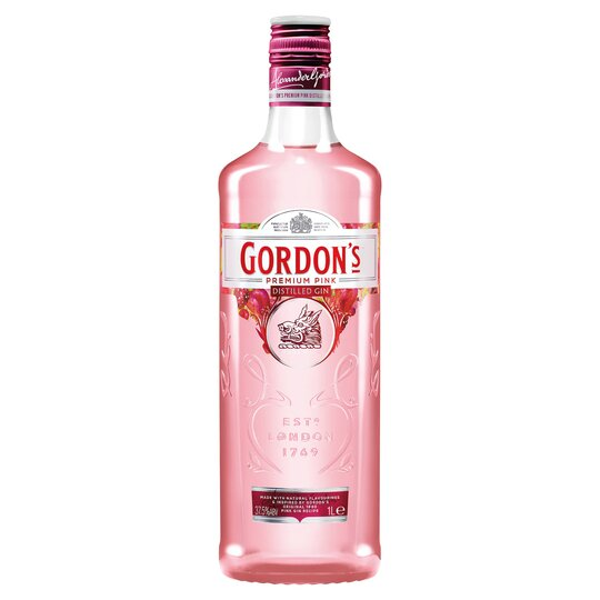 Gordon's Premium Pink Distilled Gin 1 Litre