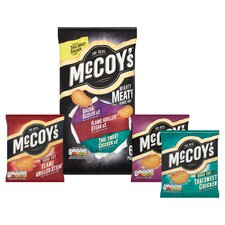 image 2 of Mccoy's Mighty Meaty Variety Crisps 6X25g