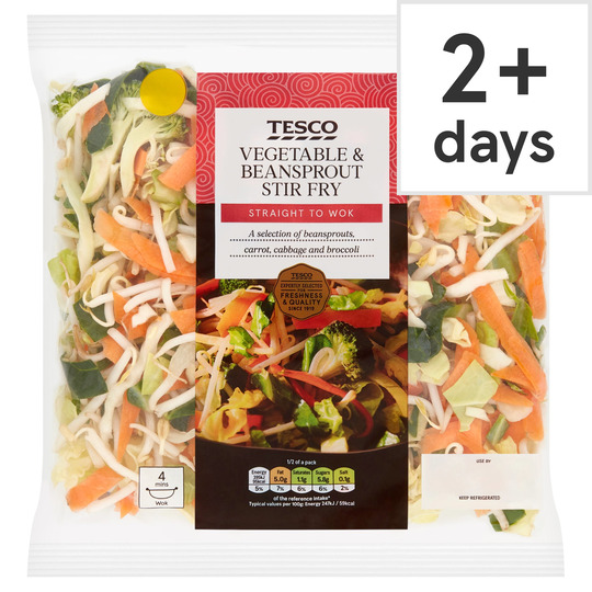 Tesco Vegetable Beansprout Stir Fry 320g Tesco Groceries