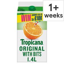 image 1 of Tropicana Original Orange With Juicy Bits 1.4L