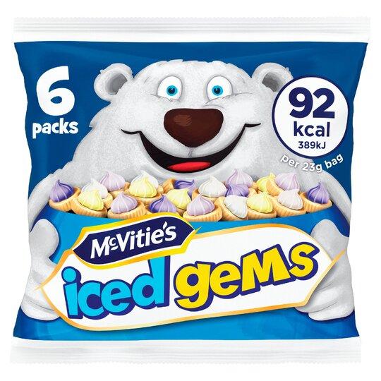 image 1 of Mcvities Iced Gems 6X23g