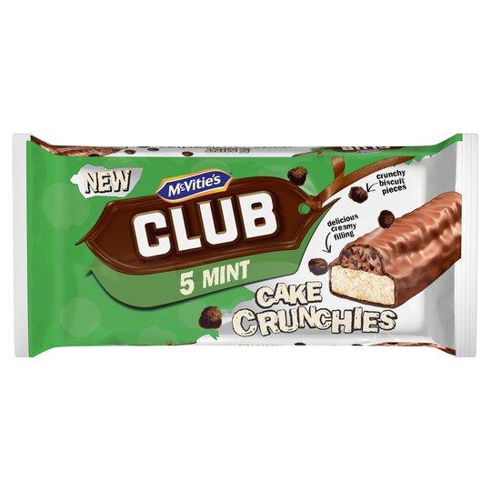 Mcvitie's Club Mint Cake Bars 5 Pack