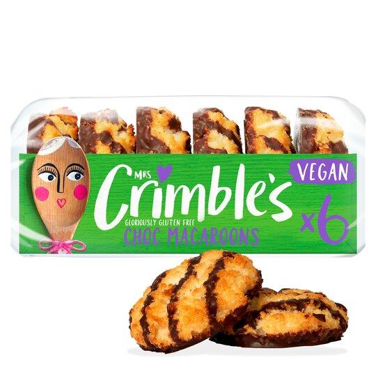 image 1 of Mrs Crimbles 6 Gluten Free Vegan Chocolate Macaroon 195G