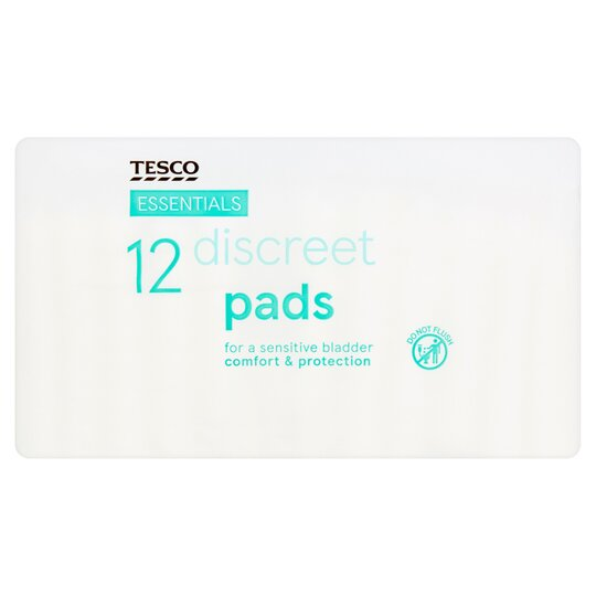 Tesco Essentials Discreet Incontinence Pads 12 Pack