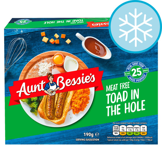 Aunt Bessie's Vegetarian Toad In The Hole 190G