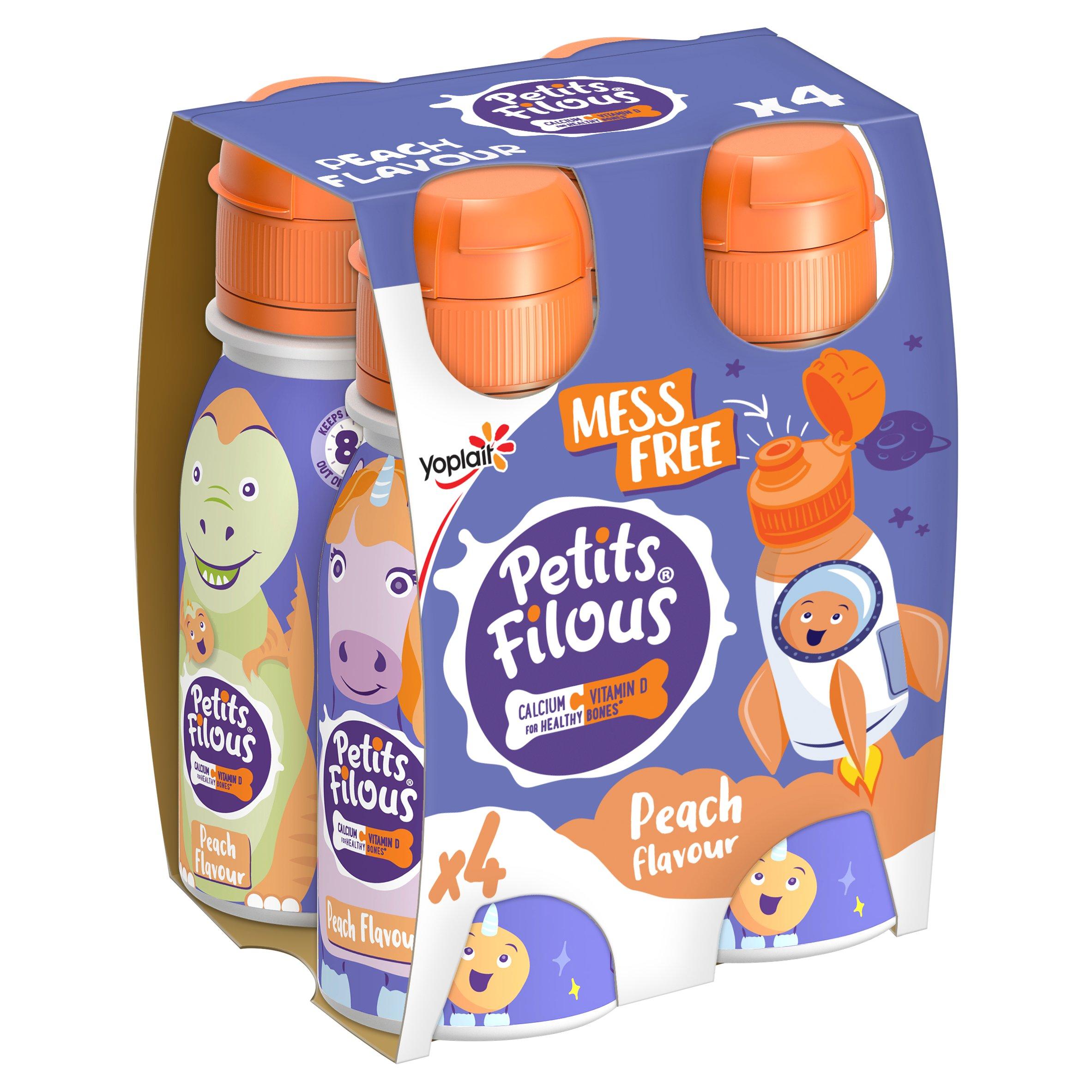 Petit Filous Peach Drinking Yogurt 4X100g