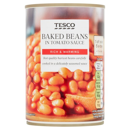 Tesco Baked Beans In Tomato Sauce 420g Tesco Groceries