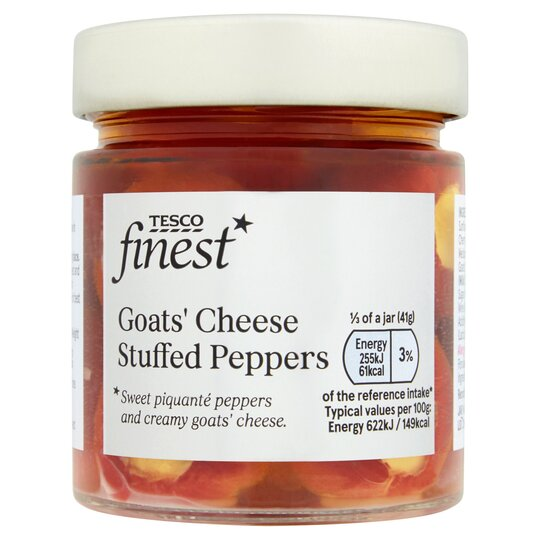 Tesco Finest Goats Cheese Stuffed Peppers 200G