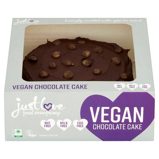 Astonishing Just Love Food Vegan Chocolate Cake 485G Tesco Groceries Birthday Cards Printable Nowaargucafe Filternl