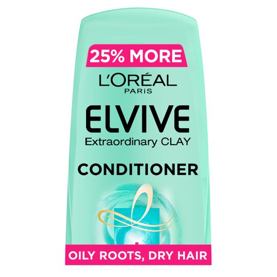 L'oreal Elvive Clay Oily Roots Conditioner 500Ml