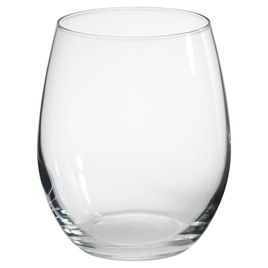 Tesco Large Stemless Wine Glass 4 Pack Tesco Groceries