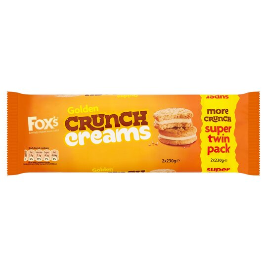 image 1 of Fox's Golden Crunch Creams 2 X 230G