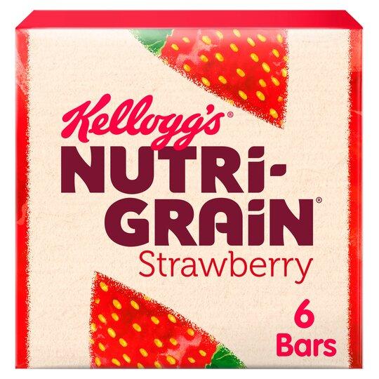 Kellogg's Nutrigrain Strawberry 6X37g