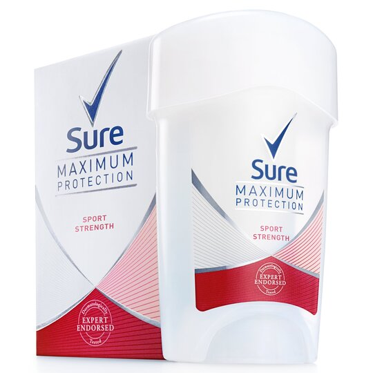 image 1 of Sure Maximum Protection Sport Strength Cream Antiperspirant Deodorant 45Ml