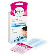 image 2 of Veet Wax Strips Sensitive Skin Face 40 Pack