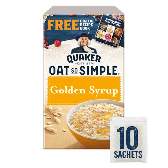 Quaker Oat So Simple Golden Syrup Porridge 10 X 36G