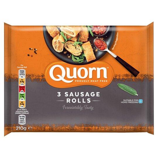 Quorn 3 Sausage Rolls 210G