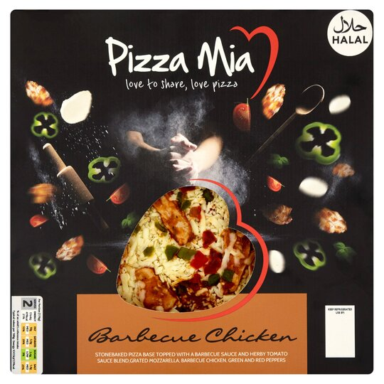 Pizza Mia Halal Bbq Chicken Pizza 390g Tesco Groceries