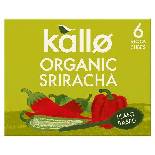 Kallo Organic Sriracha 6 Stock Cubes 66G