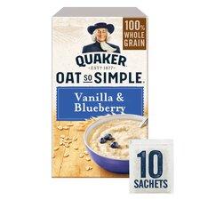 image 1 of Quaker Oat So Simple Vanilla & Blueberry Porridge X 10 332G
