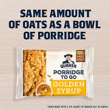 image 2 of Quaker Porridge To Go Golden Syrup 2X55g