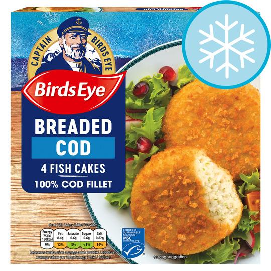 Birds Eye 4 Breaded Cod Cakes 198G