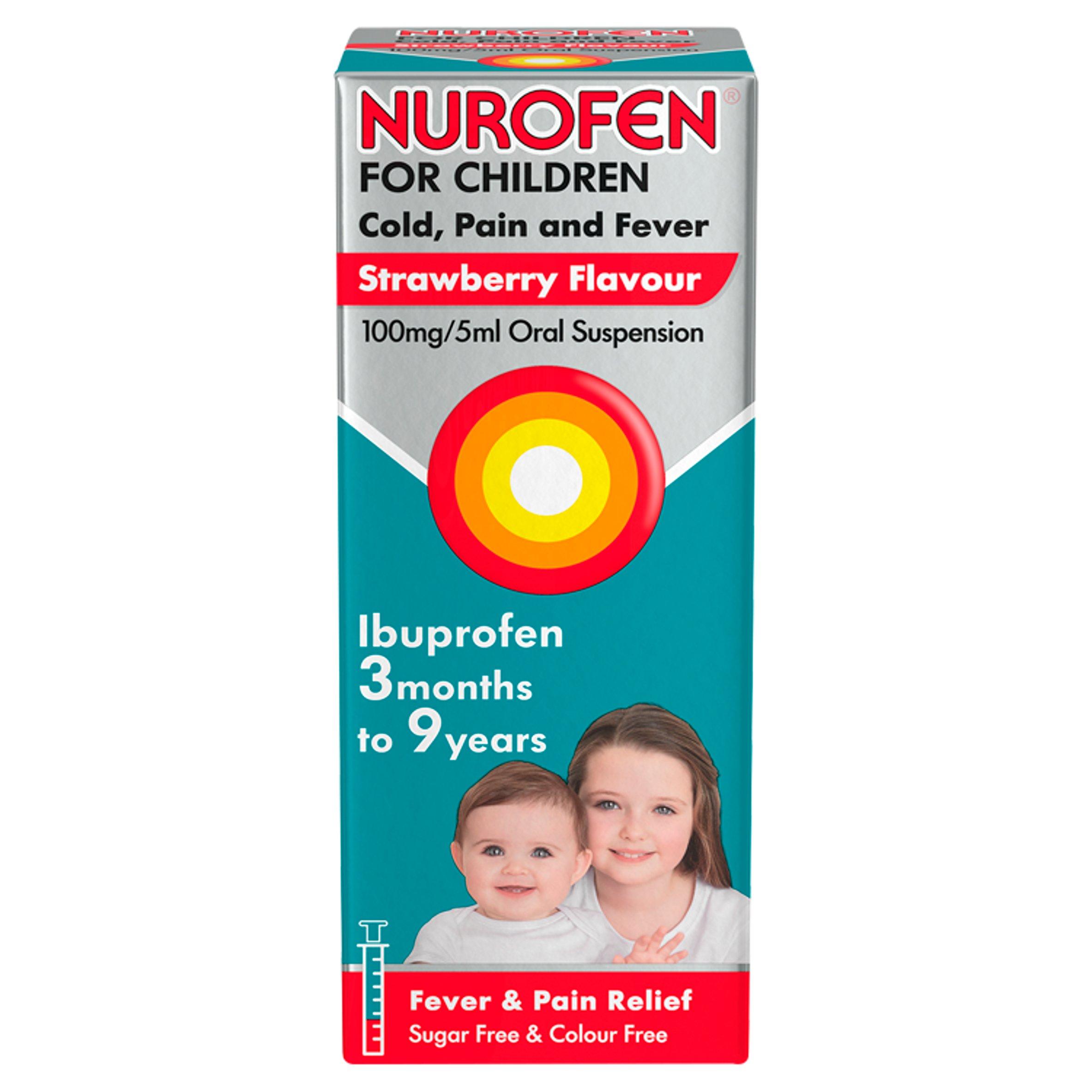 Nurofen Children Cold & Flu Strawberry 100Ml