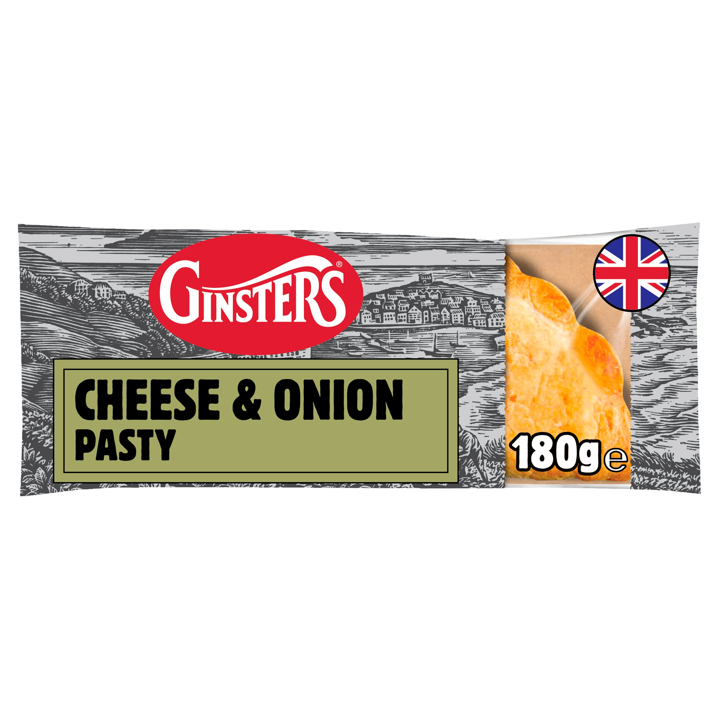 Ginsters Cheese & Onion Pasty 180G