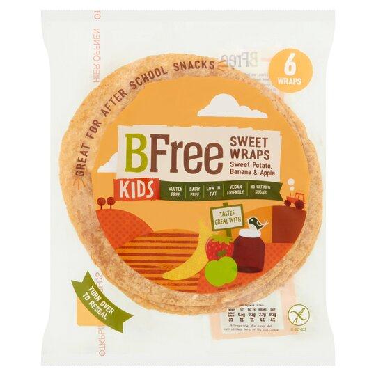 Bfree Sweet Pot & Banana Kid's Wraps 150G
