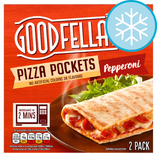 Goodfella's Pizza Pockets Pepperoni 2 Pack 250G