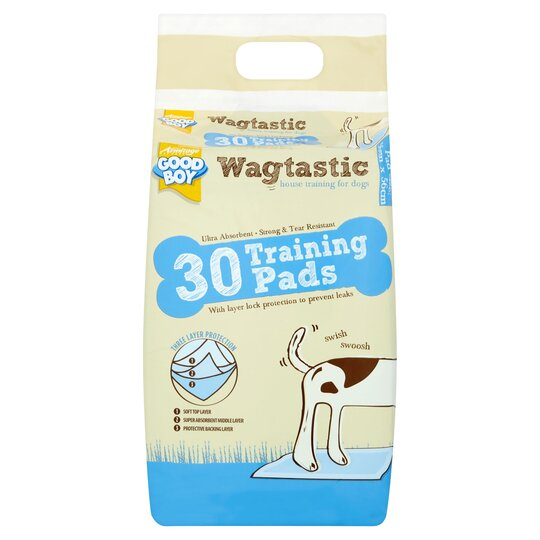 G Boy Wagtastic Training Pad For Dogs 30'S