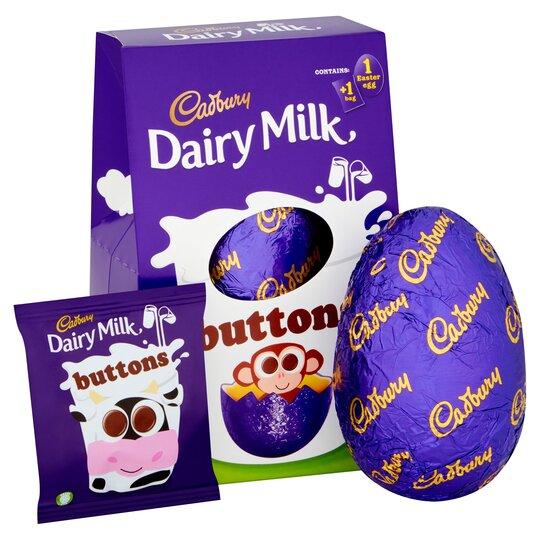 Cadbury Dairy Milk Buttons Medium Easter Egg 128G