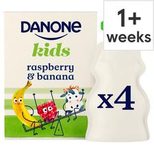 image 1 of Danone Kids Organic Raspberry & Banana Yogurt 4 X 70G