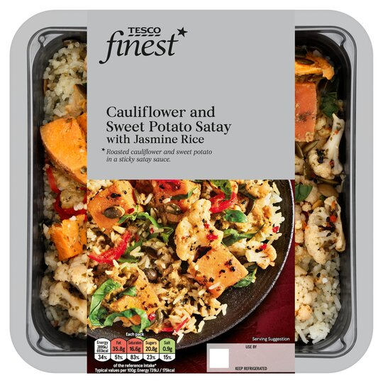 Tesco Finest Cauliflower Sweet Potato Satay Rice 430g