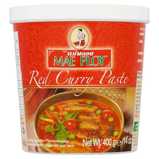 Mae Ploy Red Curry Paste 400g Tesco Groceries